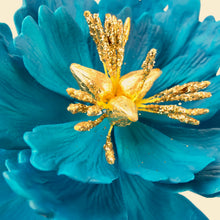 Extra Large Open Peony Sugar Flower in Turquoise - Ships within 3 Business Days