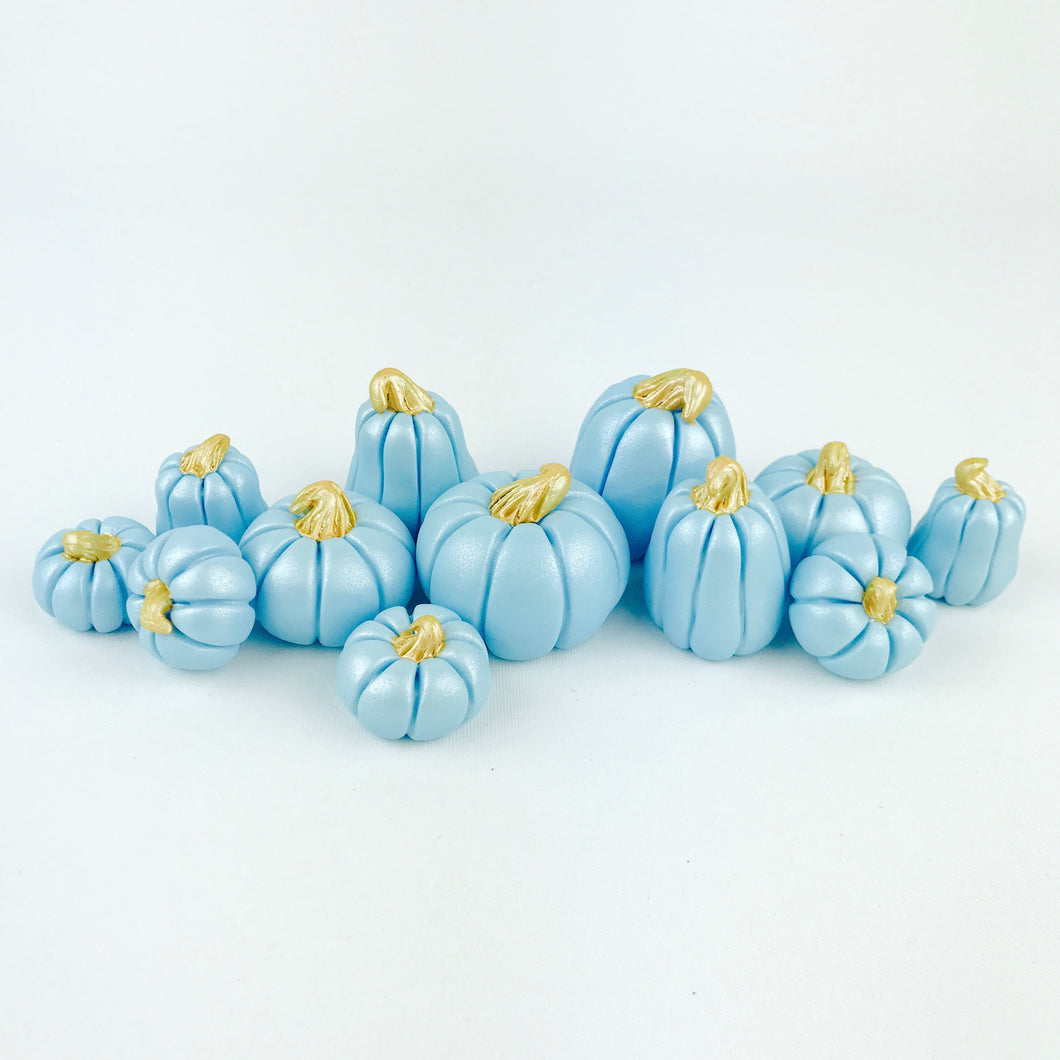 Blue pumpkins toppers
