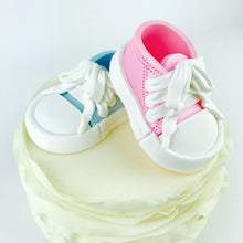Gender Reveal Sneakers Shoes Cake Topper