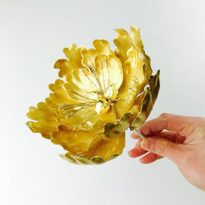 Gold Extra Large Open Peony Sugar Flower