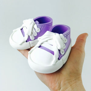 Baby Shoes Cake Topper in Lilac
