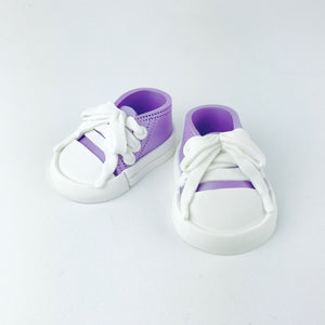 Baby Shoes Cake Topper in Lilac - Ships within 3 Business Days