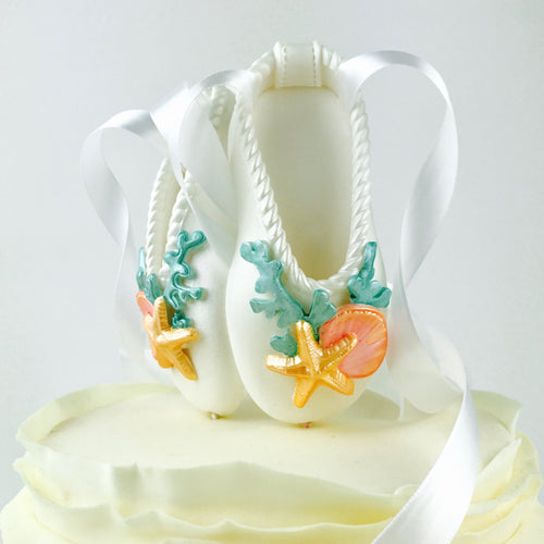 Mermaid Ballerina Shoes Fondant Cake Topper