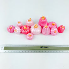 Pink Ombre pumpkin fondant toppers - Set of 12 - Ships within 3 Business Days