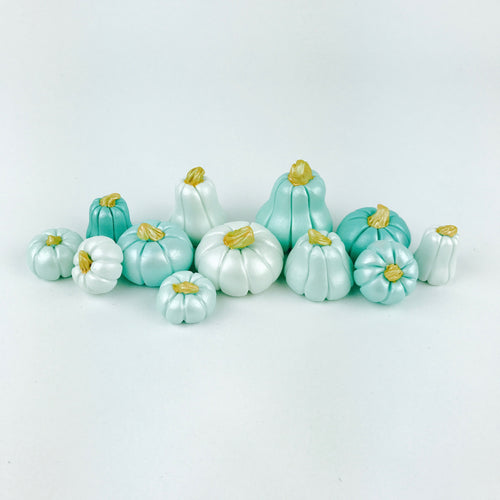 Mint Ombre pumpkins toppers