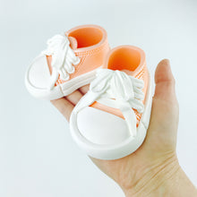 Baby Sneakers Shoes Cake Topper in Orange