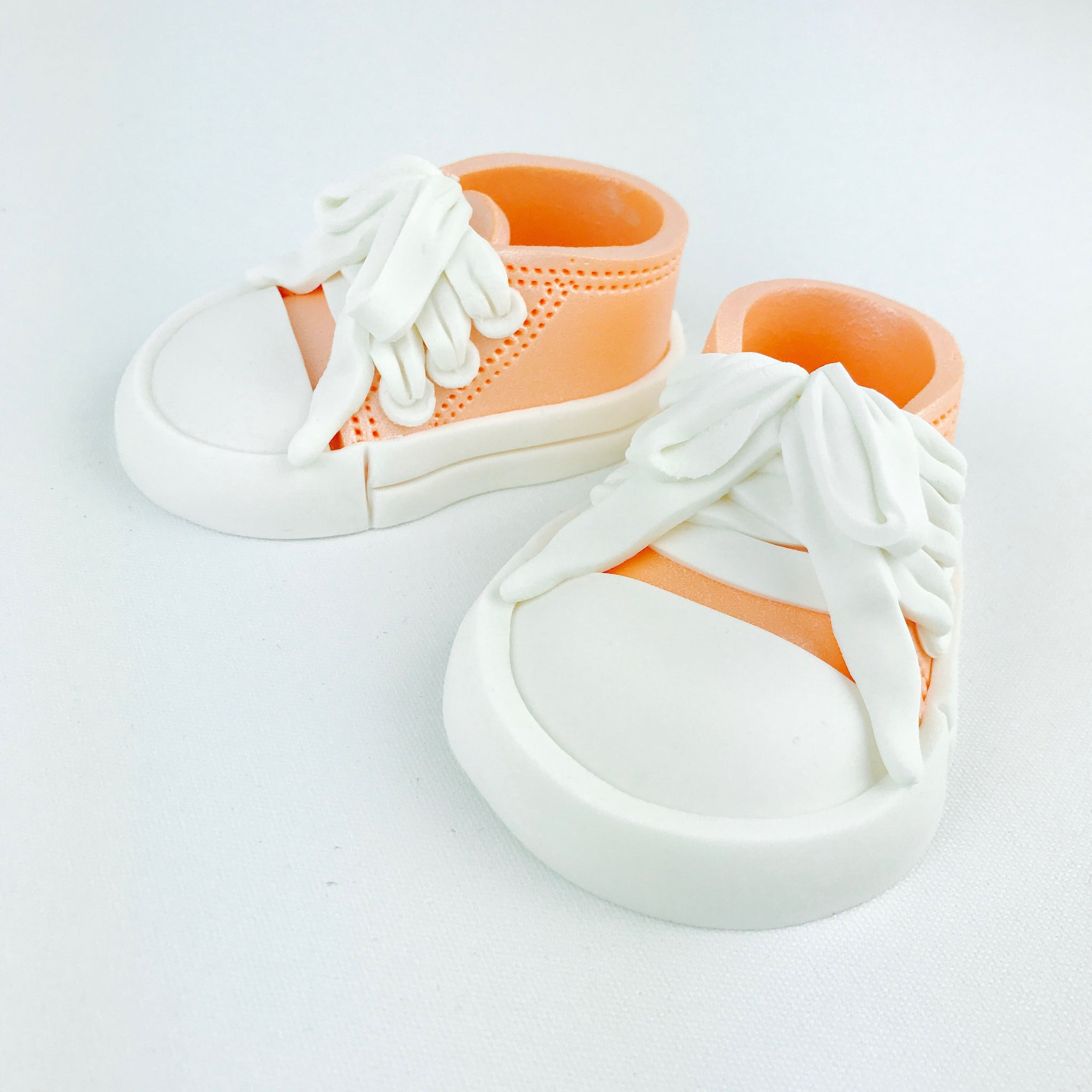 Baby Shoes Cake Topper in Orange