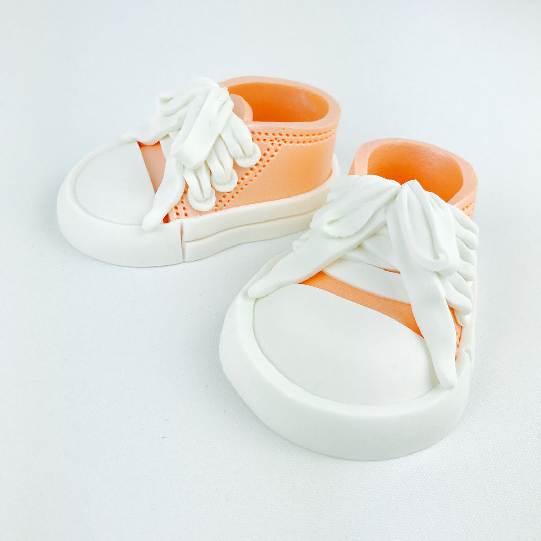 All Star Baby Shoes Cake Topper in Orange