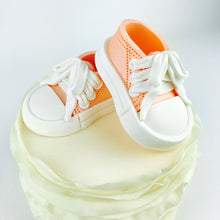 Orange Baby Sneakers Shoes Cake Topper