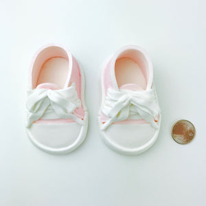 Pink Baby Girl Sneakers Shoes size comparison