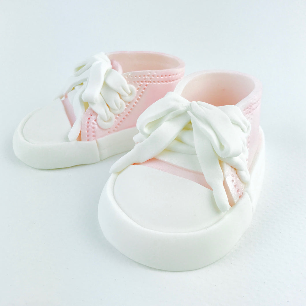All Star Baby Shoes Cake Topper in Pink