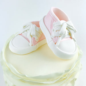Pink Baby Girl Sneakers Shoes  Cake Topper