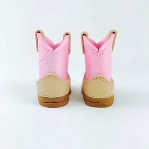 Cowboy boots fondant cake topper in Pink - Ships within 3 Business Days