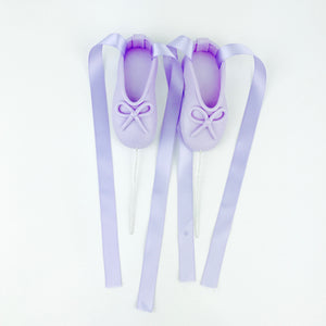 Lilac Ballerina Shoes Fondant Cake Toppers