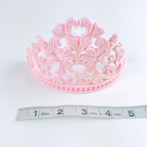 Princess Tiara Fondant Cake Topper in Pink sizes