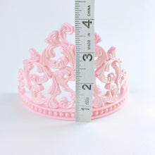 Princess Tiara Fondant Cake Topper in Pink measurements