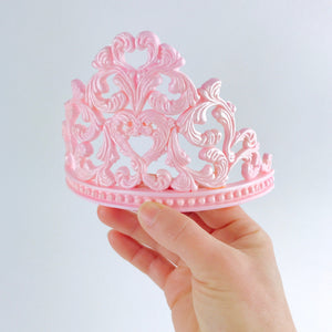 Princess Tiara Fondant Cake Topper in Pink