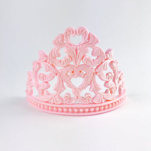 Princess Tiara Fondant Cake Topper in Pink front view