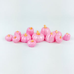 Pink pumpkins toppers