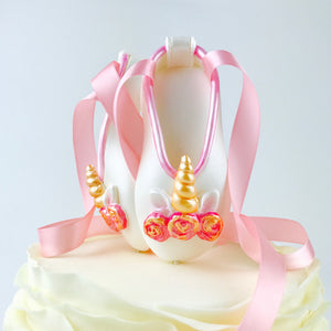 Unicorn Ballerina Shoes Fondant Cake Topper