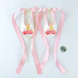 Unicorn Ballerina Shoes Fondant Cake Topper size comparison