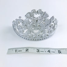 Princess Tiara Fondant Cake Topper in Silver sizes