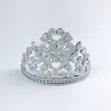Princess Tiara Fondant Cake Topper in Silver front view