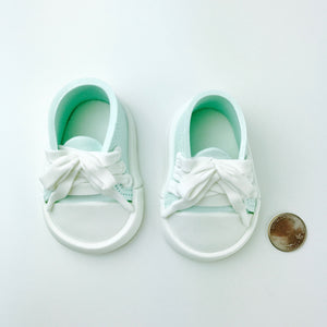Teal Baby Sneakers Shoes size comparison