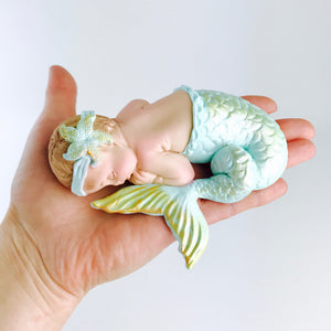 Mermaid Baby Shower Fondant CAKE Topper