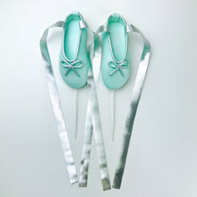 Teal and Silver Ballerina Shoes Fondant Cake Toppers