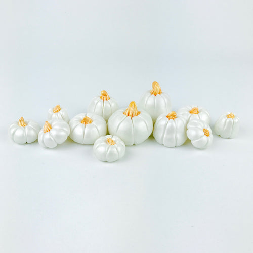 White pumpkins toppers
