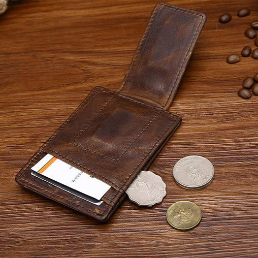 Leather Money Clips for Men Dad Gift Custom Gift from Daughter Personalized Wallet with Magnetic Clip Leather Fathers Day Gifts for Dad - urweddinggifts