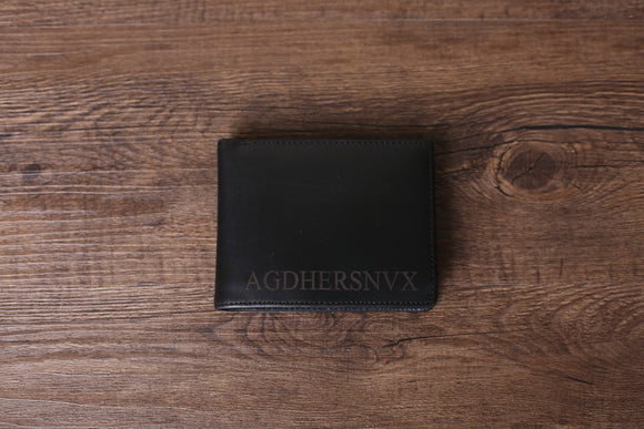 AGDHERSNVX Personalized Leather Wallet, Slim Leather Wallet, RFID Mens Wallet, Groomsmen Gift - urweddinggifts