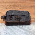 Groomsmen Gifts Monogrammed Toiletry Bag Personalized Dopp Kit Handmade Usher Gift - urweddinggifts
