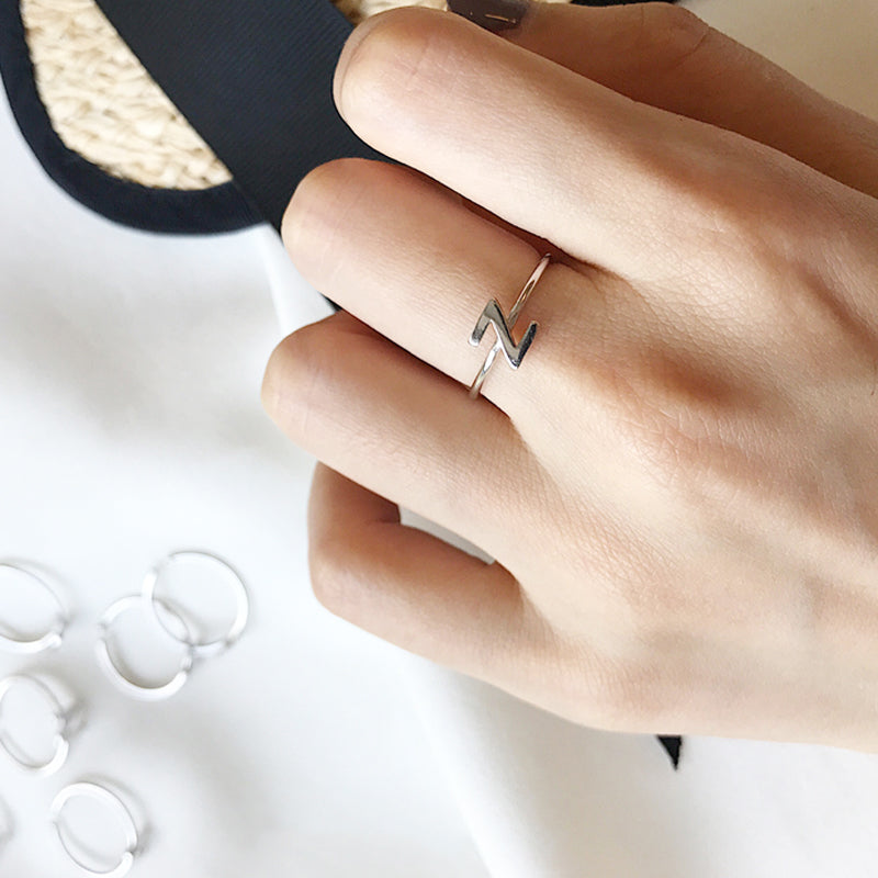 Bridesmaid Gift Dainty Initial Ring Custom Letter Ring Personalized Initials Rings - urweddinggifts