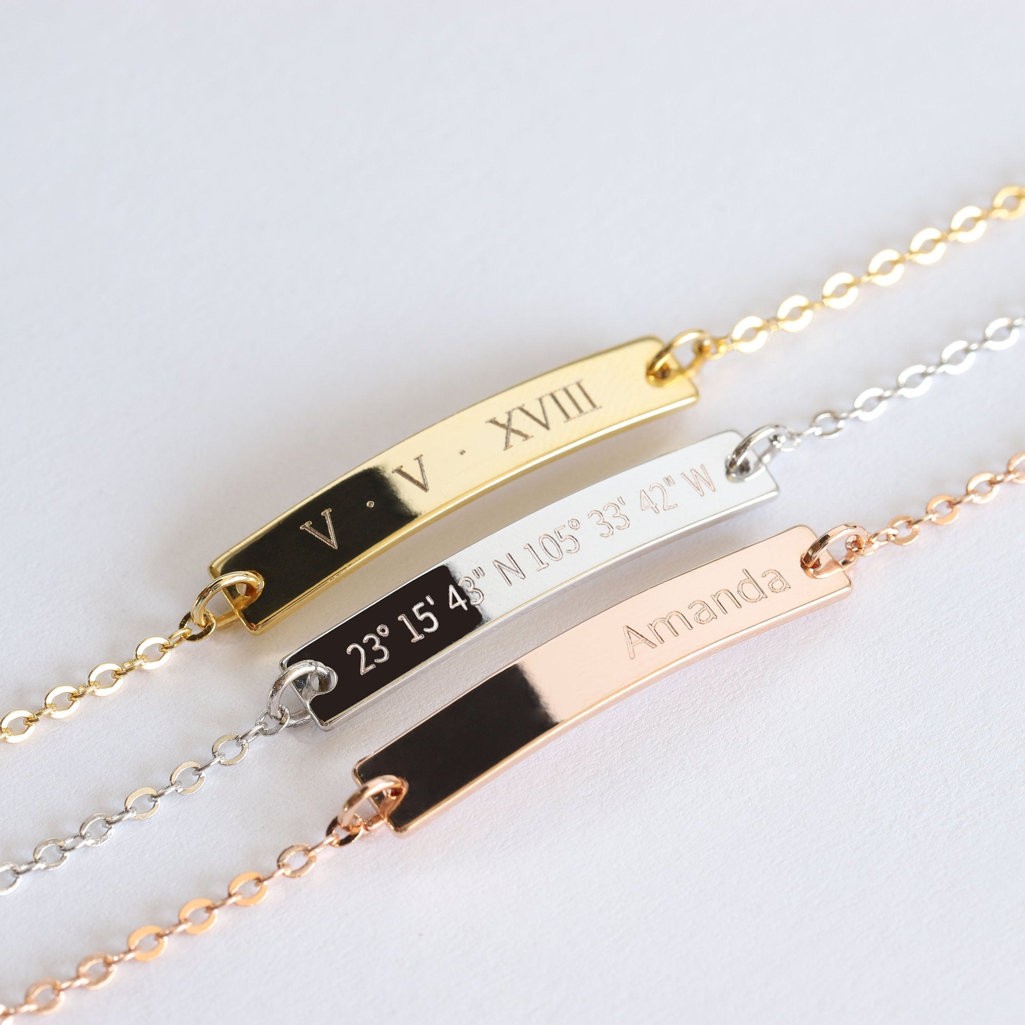Bridesmaid Gift Personalized Bracelet Engraved Bracelet Custom Bridesmaid Bracelet - urweddinggifts