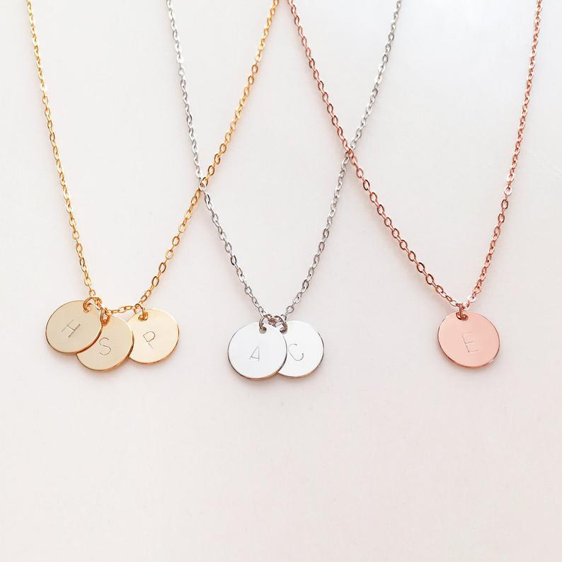 Bridesmaid Gift Personalized Bridesmaid Necklaces Initial Necklaces Monogram Jewelry - urweddinggifts