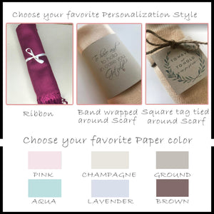 Bridesmaid Gifts 10 Pashminas Personalized Handmade Shawl Bridesmaid Shawl Bridal Shawl - urweddinggifts