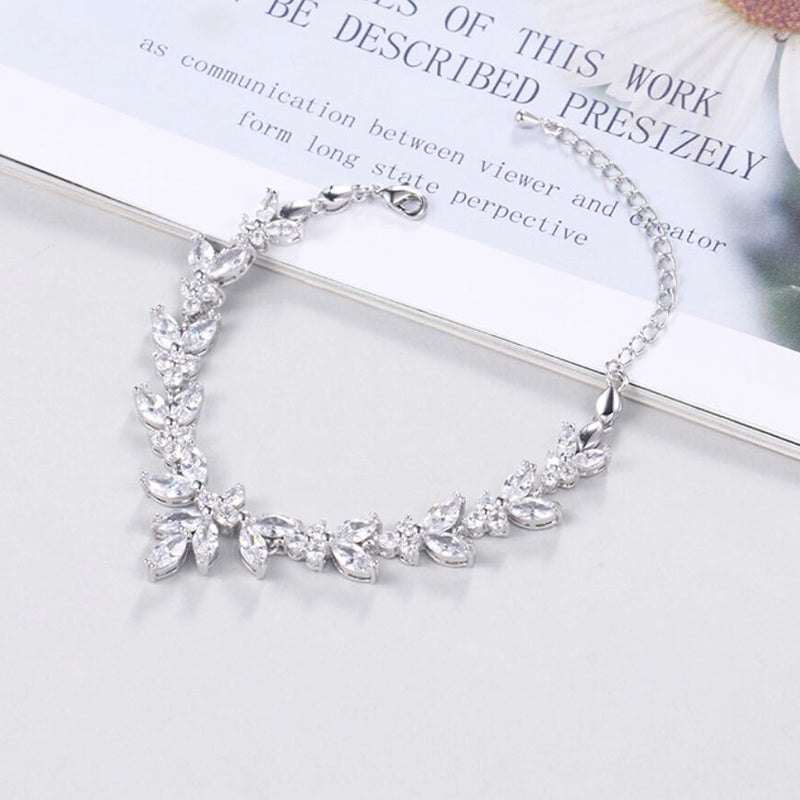 Bridesmaid Gifts Bridesmaid Bracelet Leaves Bracelet Adjustable Bracelet Bridesmaid Jewelry - urweddinggifts