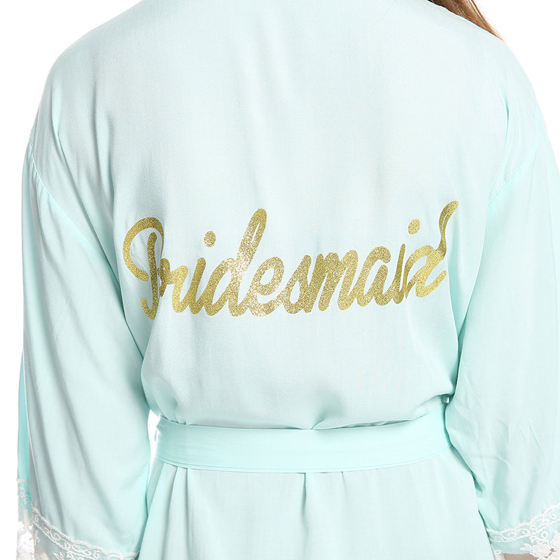 Bridesmaid Gifts Bridesmaid Cotton Robes Bridal Cotton Robe Bridal Party Robes - urweddinggifts