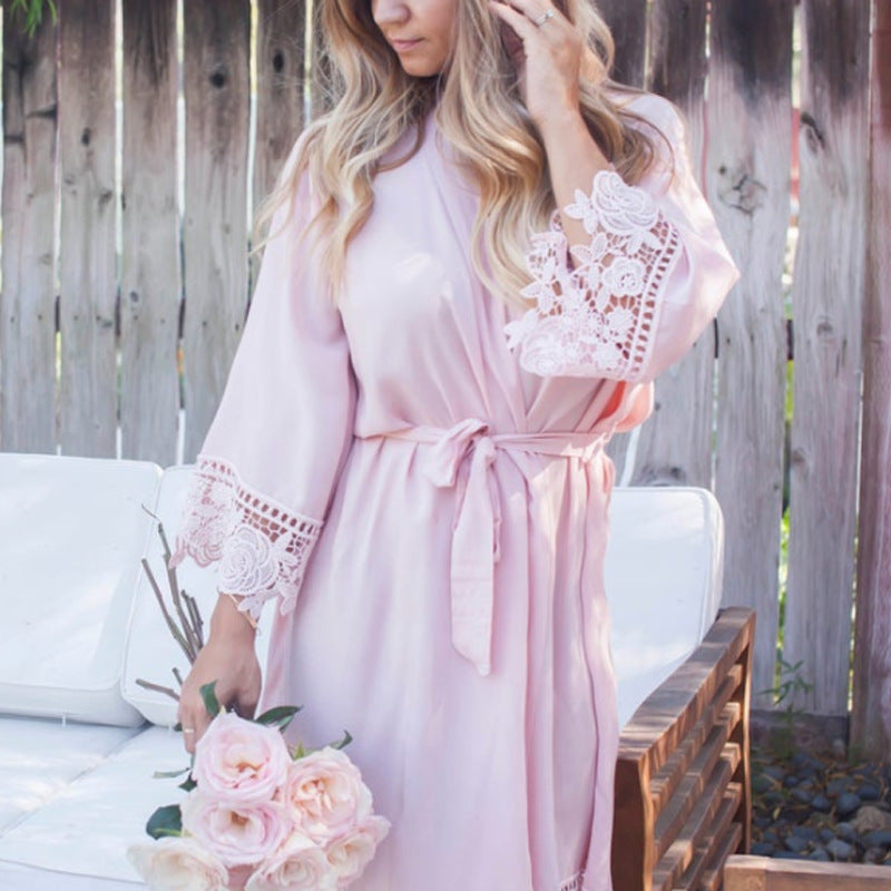 Bridesmaid Gifts Bridesmaid Lace Robes Bridal Robe Bridal Party Robes - urweddinggifts