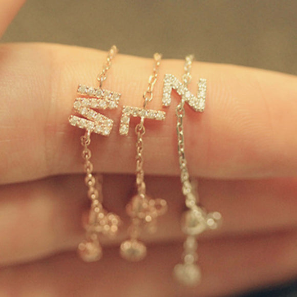 Bridesmaid Gifts Chain Ring Personalized Initial Ring Simple Delicate Ring Thin Stacking Ring - urweddinggifts
