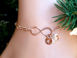 Bridesmaid Gifts Custom Initials Bracelet Personalized Initial Charm Bracelet Bridesmaid Bracelet - urweddinggifts