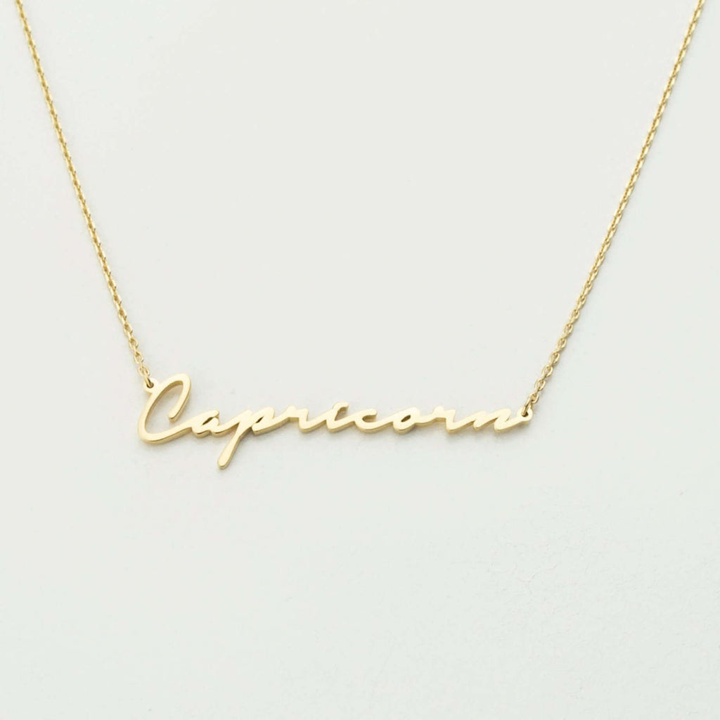 Bridesmaid Gifts Personalized Name Necklace Custom Word Necklace Minimal Script Name Necklace - urweddinggifts