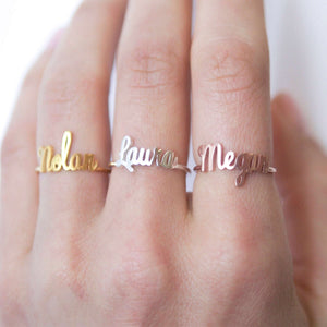 Bridesmaid Gifts Custom Name Ring Dainty Name Ring Customize Name Ring Personalized Jewelry Bridesmaids Jewelry - urweddinggifts