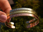 Bridesmaid Gifts Personalized Bracelets Customized Coordinates Bracelets Engraved Cuff - urweddinggifts
