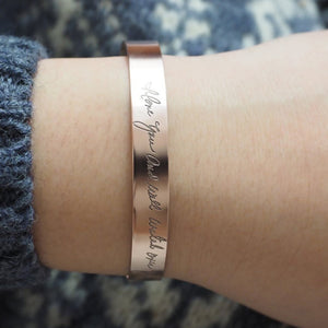Bridesmaid Gifts Handwriting Cuff Bracelet Personalized Signature Bracelet Actual Handwriting Bracelets - urweddinggifts