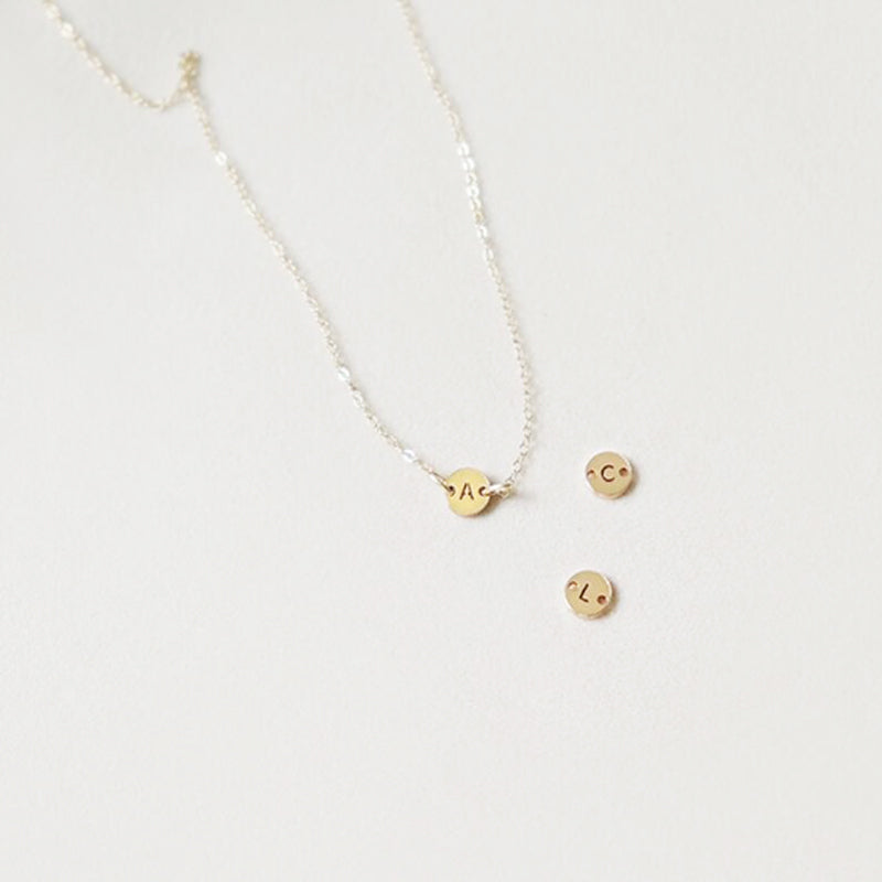 Bridesmaid Gifts Initial Necklace Letter Necklace Tiny Initial Necklace Dainty Gold Initial Necklace - urweddinggifts