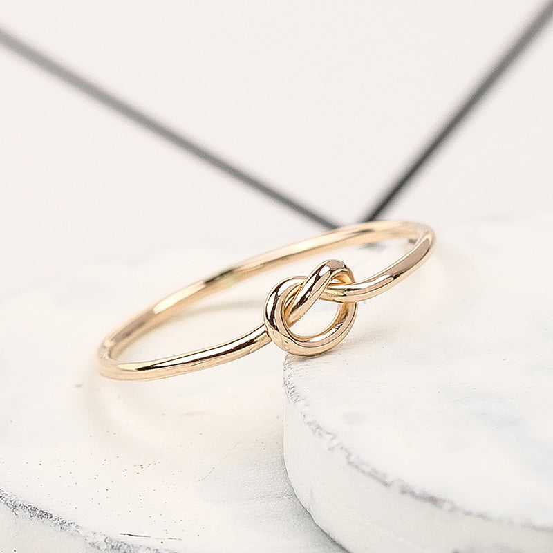 Bridesmaid Gifts Knot Ring Love Knot Ring Promise Ring Bridesmaid Ring Friendship Ring - urweddinggifts