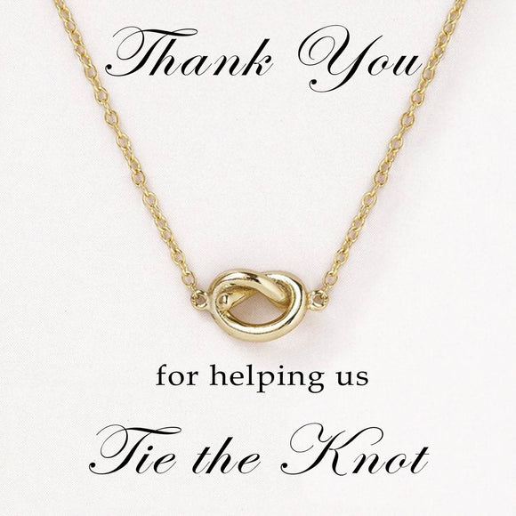 Bridesmaid Gifts Love Knot Necklace Bridesmaid Necklace Personalized Necklace - urweddinggifts